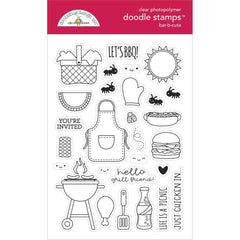 Doodlebug Clear Doodle Stamps 4in x 6in - Bar-B-Cute