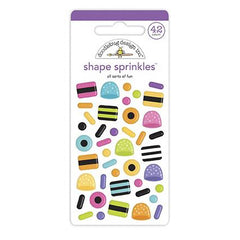 Doodlebug Sprinkles Adhesive Enamel Shapes - All Sorts Of Fun