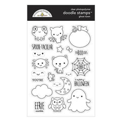 Doodlebug Clear Doodle Stamps - Ghost Town
