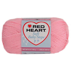 Red Heart Soft Baby Steps Yarn - Baby Pink 142g
