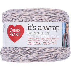 Red Heart It's A Wrap Sprinkles Yarn - Peach Cobbler - 5.9oz/150g