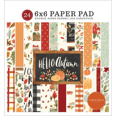Carta Bella Double-Sided Paper Pad 6in x 6in  24 pack - Hello Autumn, 12 Designs/2 Each