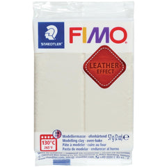 Fimo Leather Effect Polymer Clay 2oz - Ivory