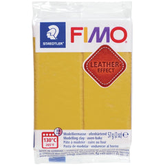 Fimo Leather Effect Polymer Clay 2oz - Ochre