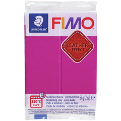 Fimo Leather Effect Polymer Clay 2oz - Berry