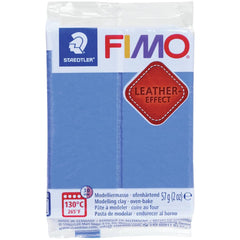 Fimo Leather Effect Polymer Clay 2oz - Indigo Blue