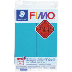 Fimo Leather Effect Polymer Clay 2oz - Lagoon