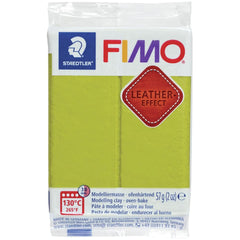 Fimo Leather Effect Polymer Clay 2oz - Olive
