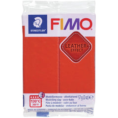 Fimo Leather Effect Polymer Clay 2oz - Rust