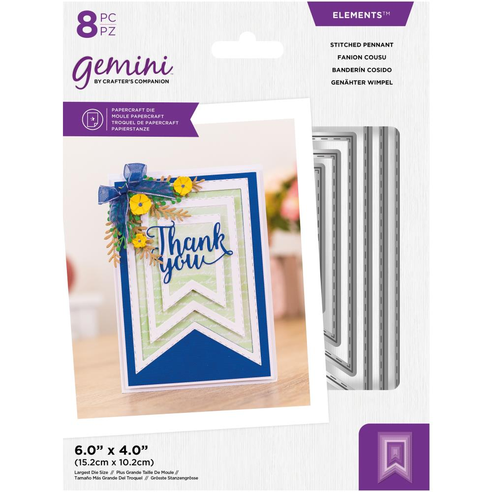 Crafter's Companion Gemini Elements Dies - Stitched Pennant