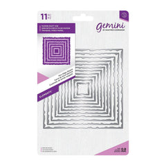 "Crafter's Companion Gemini Elements Nesting Metal Dies Square Torn Edge .7"" To 4.5"""