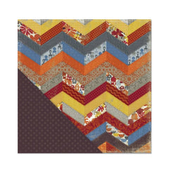 Little Yellow Bicycle - Feels Like Home Collection - 12 x 12 Double Sided Paper - Chevron Quilt