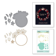 Spellbinders Glimmer Hot Foil Plate & Die By Yana Smakula - Christmas Foliage Circle Border
