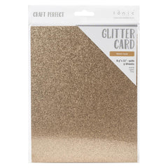 Craft Perfect Glitter Cardstock 8.5inch X11inch 5 pack - Welsh Gold