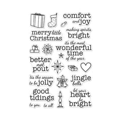 Hero Arts Clear Stamps 4in x 6in - Comfort & Joy Messages