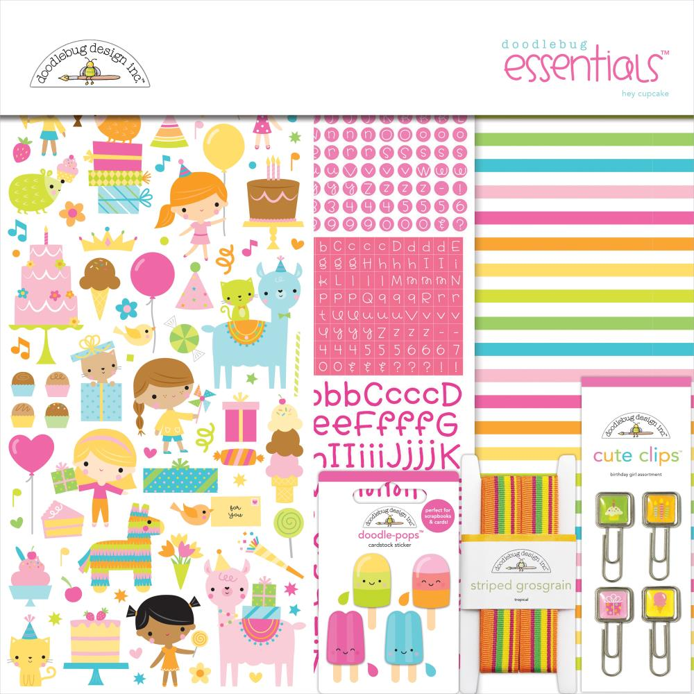 Doodlebug Essentials Page Kit 12in x 12in  Hey Cupcake