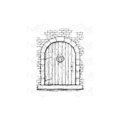 Heartfelt Creations French Cottage Collection Cling Rubber Stamp Set - French Doorway