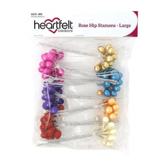 Heartfelt Creations Rose Hip Stamens Large 7 pack  10mm X 4.5""