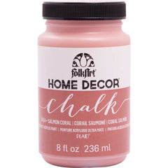 FolkArt Home Decor Chalk Paint 8oz - Salmon Coral