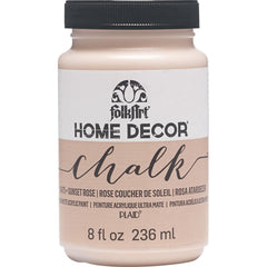 FolkArt Home Decor Chalk Paint 8oz - Sunset Rose