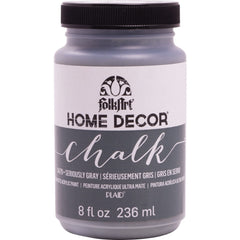 FolkArt Home Decor Chalk Paint 8oz - Seriously Gray