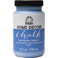FolkArt Home Decor Chalk Paint 8oz - Blue Chill