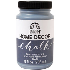 FolkArt Home Decor Chalk Paint 8oz - Nantucket Blue