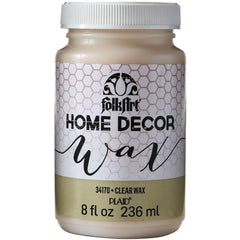 FolkArt Home Decor Wax Sealer 8oz Clear