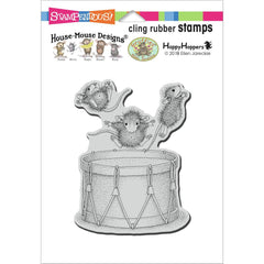 Stampendous House Mouse Cling Stamp - Little Drummers