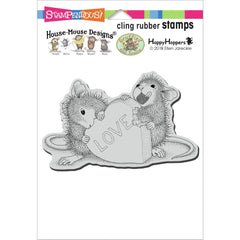 Stampendous House Mouse Cling Stamp - Love Treat