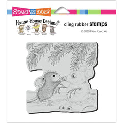 Stampendous House Mouse Cling Stamp - Snowmouse