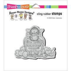 Stampendous House Mouse Cling Stamp - Maraschino Mouse