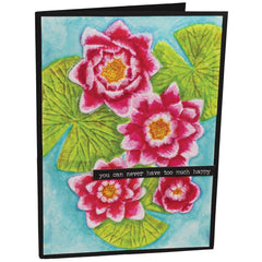 i-crafter 3D Dimensional Embossing Folder 4.25in x 6.25in - Water Lily