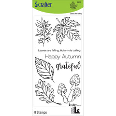 i-crafter Clear Acrylic Stamps - Leaves Are Falling