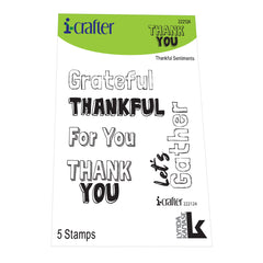 i-crafter Clear Acrylic Stamps - Thankful Sentiments