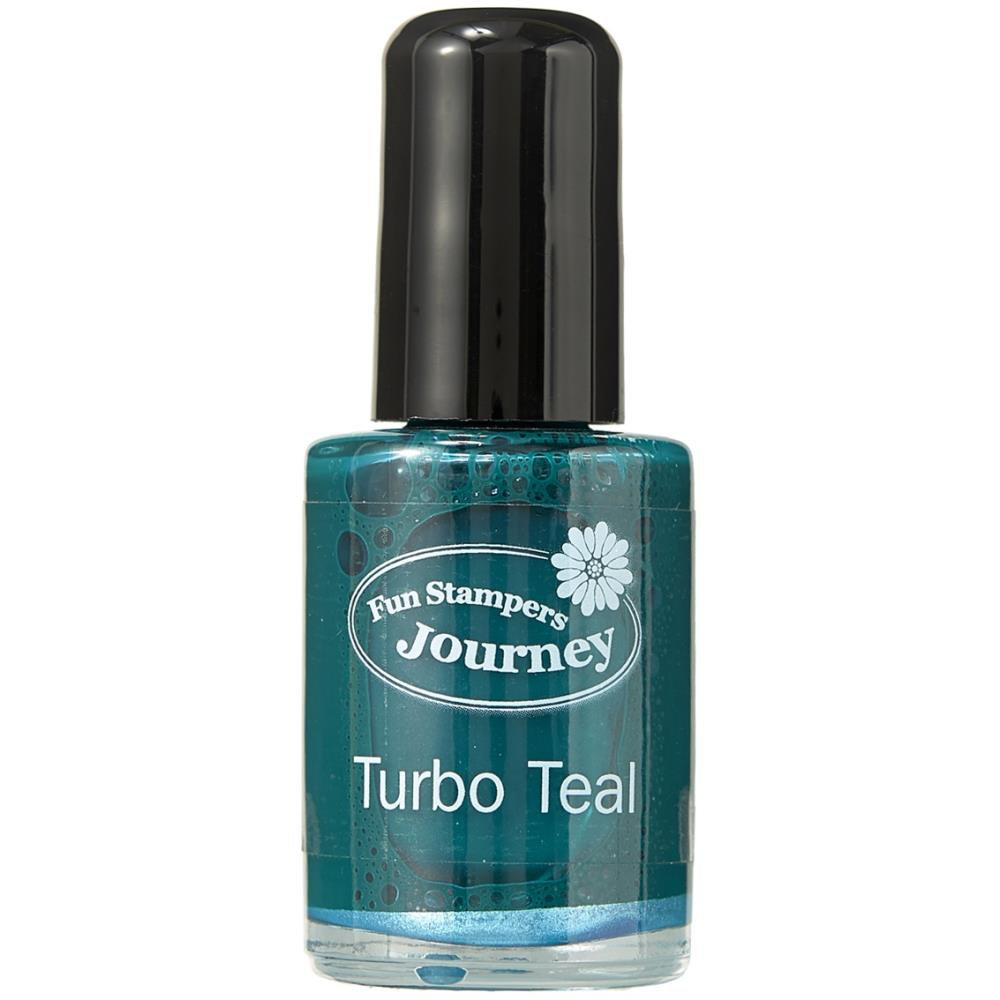 Spellbinders Silks Ink .5oz - Turbo Teal