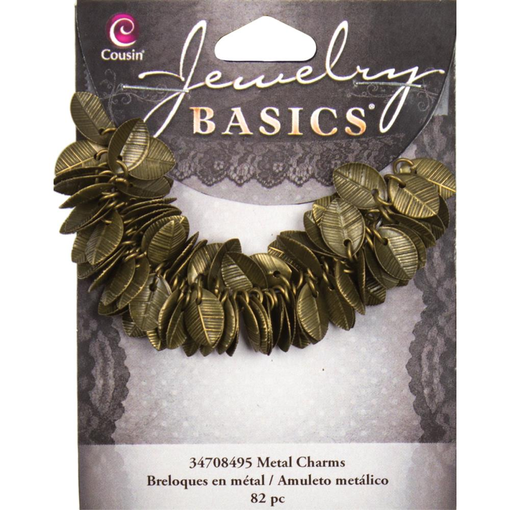 Jewellery Basics Metal Charms - Gold Leaves 115 pack