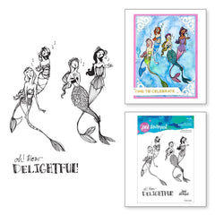 Jane Davenport Stamp Camp Collection Clear Stamps Set - Singing Mermaids