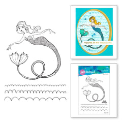 Jane Davenport Stamp Camp Collection Clear Stamps Set - Glorious Mermaid