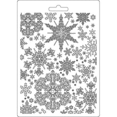 Stamperia Soft Maxi Mold A5 Snowflakes, Winter Tales