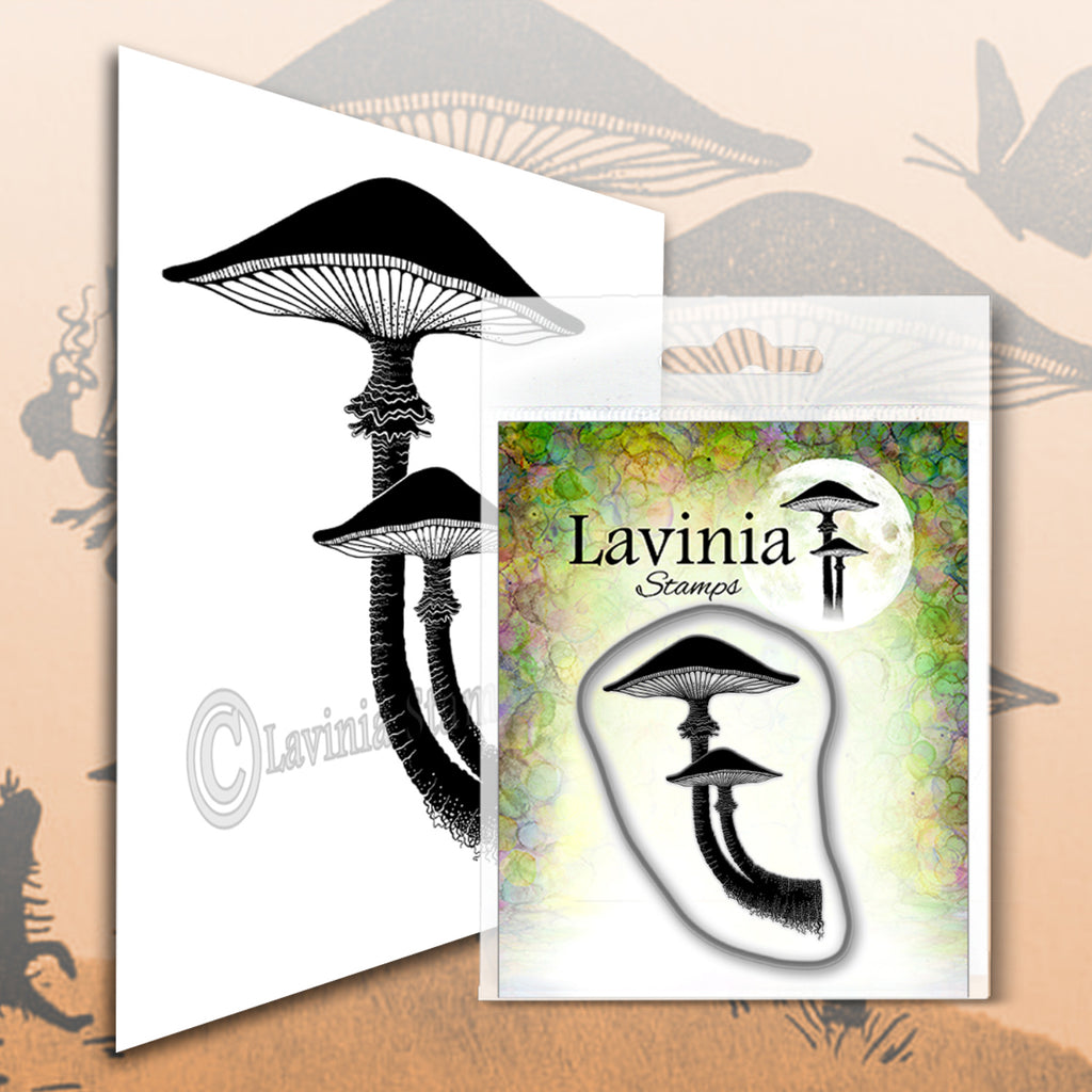Lavinia Stamps - Forest Mushroom - Polymer Stamp - Size 4 x 3cm