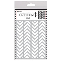 Ranger-Letter It Background Stencil 4.75 inch X6 inch - Alternating Chevrons