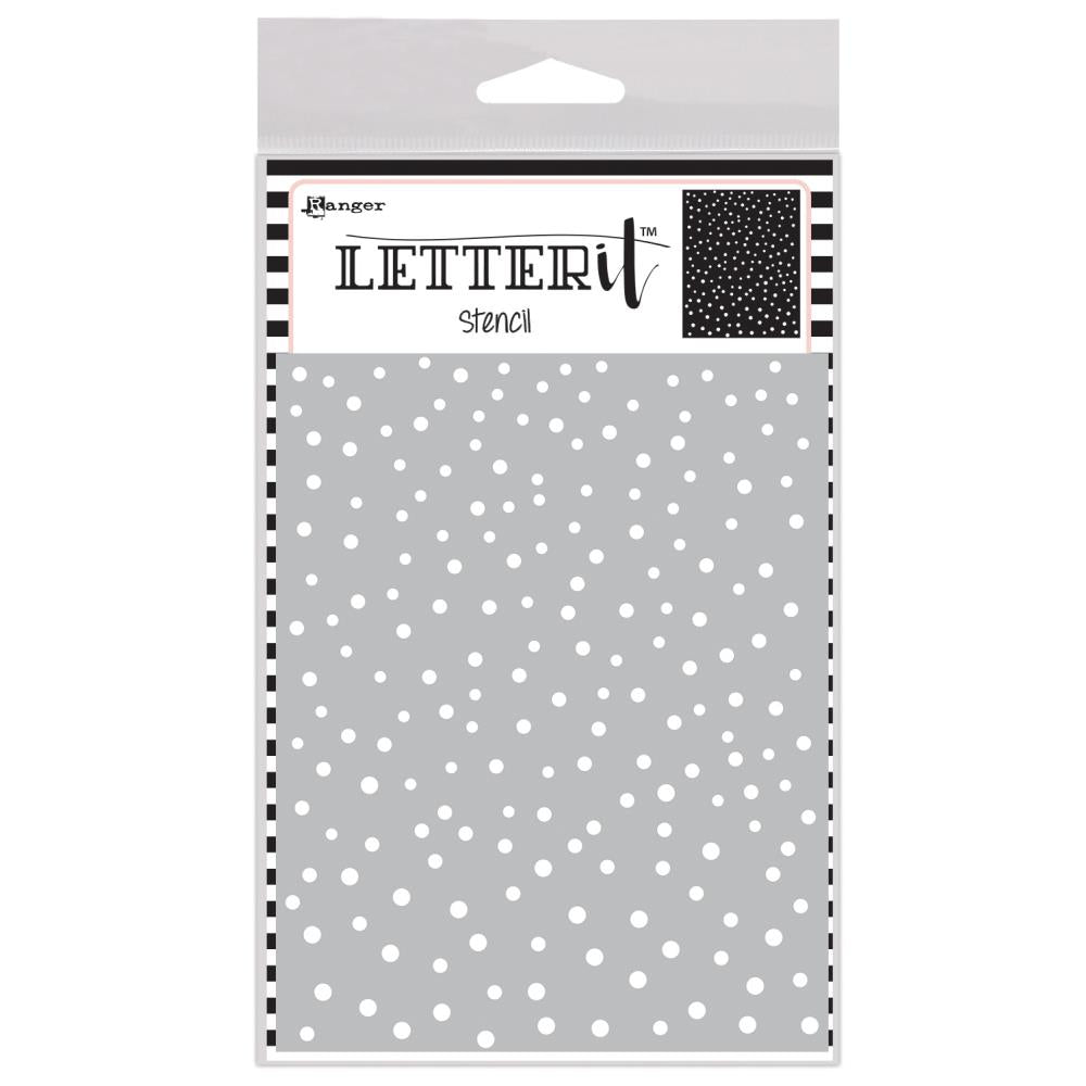 Ranger-Letter It Background Stencil 4.75 inch X6 inch - Dancing Dots