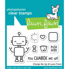 Lawn Fawn Clear Stamps 3in X 2in  - Charge Me Up