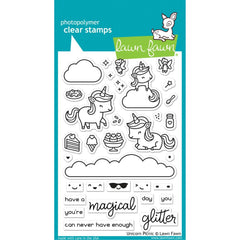Lawn Fawn Clear Stamps 4in X 6in  - Unicorn Picnic