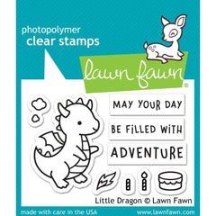 Lawn Fawn Clear Stamps 3in X  2in - Little Dragon
