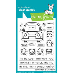Lawn Fawn Clear Stamps 3in x 4in - Car Critters