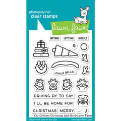 Lawn Fawn Clear Stamps 3in x 4in - Car Critters Christmas Add-On