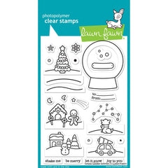 Lawn Fawn Clear Stamps 4in x 6in - Snow Globe Scenes