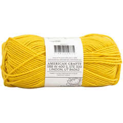The Hook Nook Main Squeeze Yarn - Mustard Yellow  100g